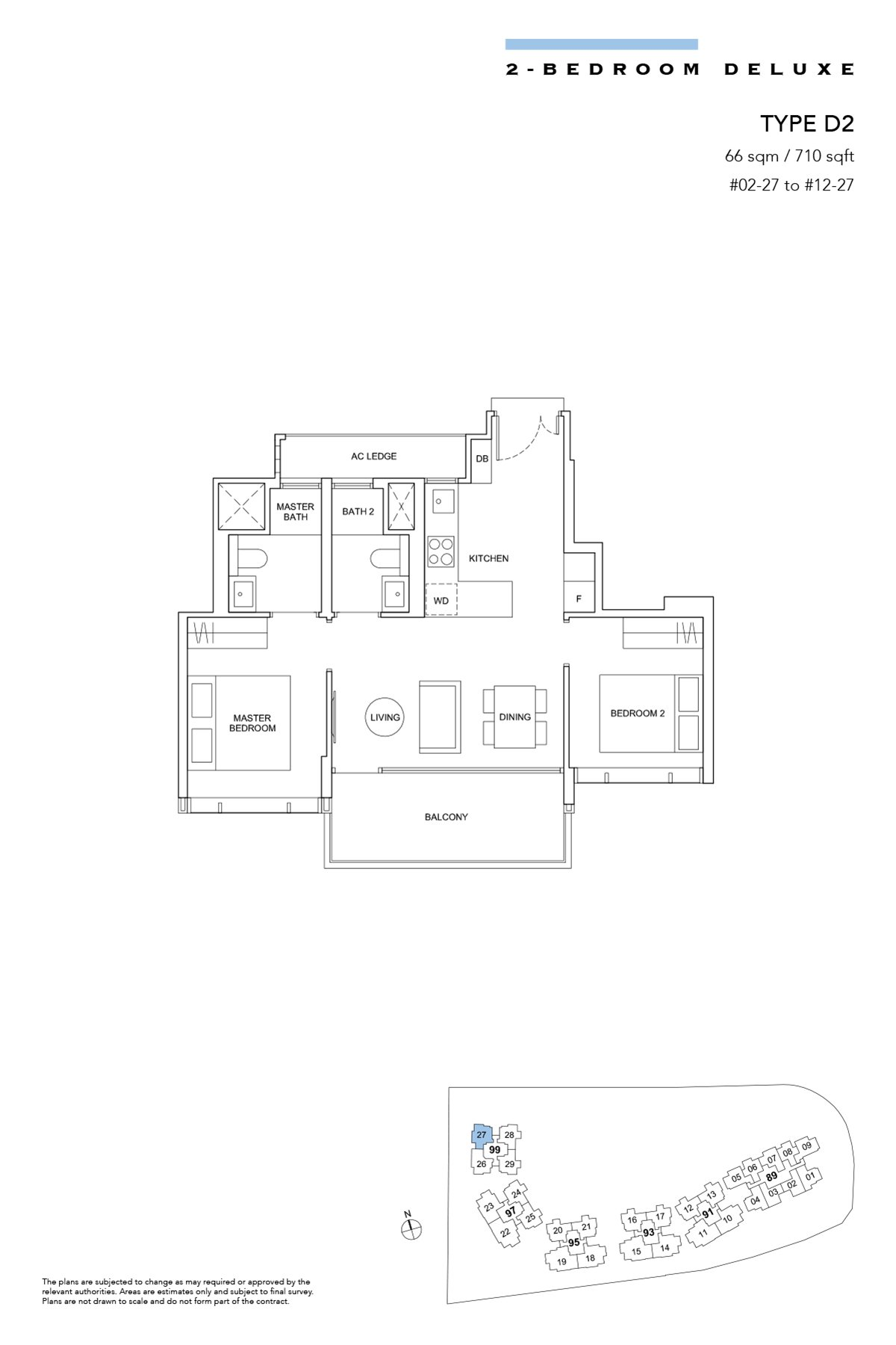 Hyll on Holland Type D2 2br Deluxe 710 sqft