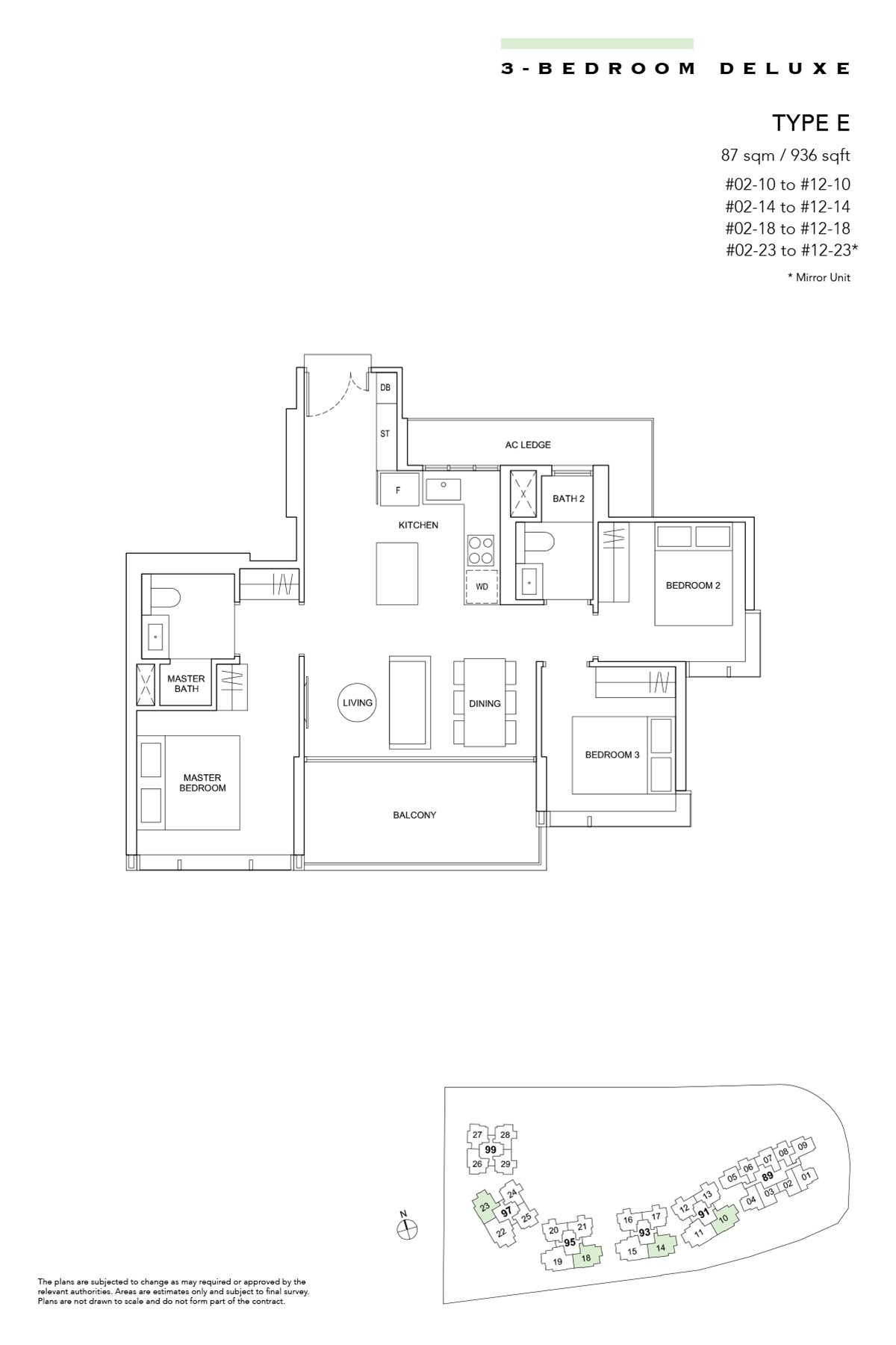 Hyll on Holland Type E 3br Deluxe 936 sqft